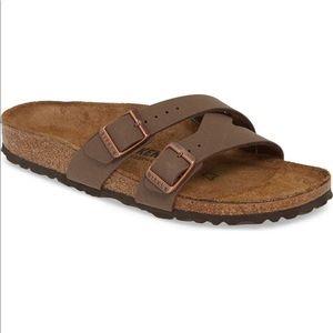 Birkenstock Yao Slide Sandal Brown Mocha Size 38